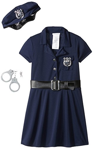 Girl Cop Costume (California Costumes Police Officer Child Costume, Large)