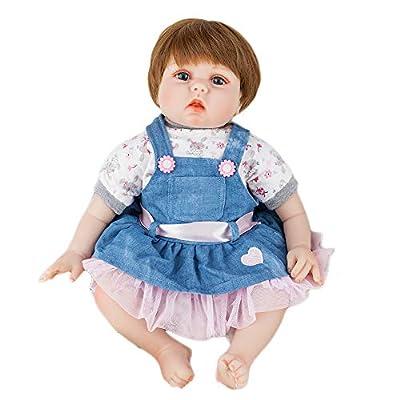 JOYMOR Reborn Baby Doll 22 Inch Lifelike Realistic Vivid Real Looking Dolls Birthday Gift Washable Soft Body Lovely Simulation Reborn Vivid Baby Doll: Toys & Games