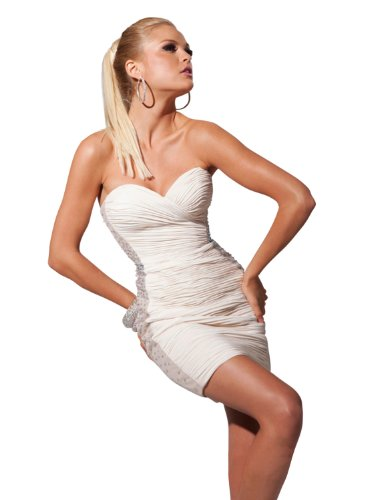 tony-bowls-short-fitted-dress-11361-champagne-2