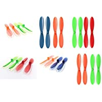 Revell QG 550 Mini Quadrocopter [QTY: 1] Blue Orange Propeller Blades Propellers Props [QTY: 1] Green [QTY: 1] Transparent Clear Red and Rotor Set 55mm Factory Units [QTY: 1] [QTY: 1] [QTY: 1]