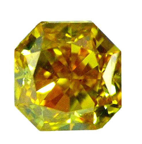 0.71 carat Fancy Yellow loose Natural Diamond VS2 Radiant Cut GIA Certified HPHT