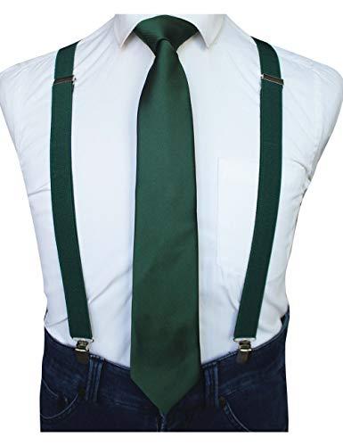 RBOCOTT Green Suspender and Necktie Sets for Men (3)