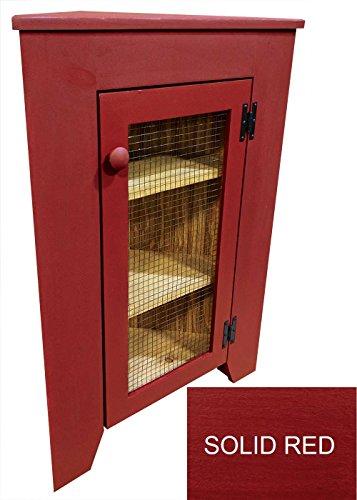 red corner cabinet - 5