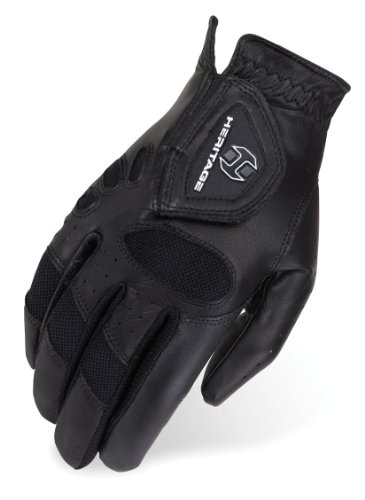 Heritage Tackified Pro-Air Show Gloves, Size 7, Black - Heritage Competition Gloves