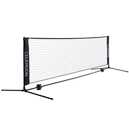 Nylon Tennis Nets - CeleMoon Portable Foldable Tennis Net Set for Tennis, Pickleball, Kids Soccer, Volleyball - Easy & Quick Setup Assembly Nylon Sports Net with Poles for Indoor Outdoor Backyard, Court, Beach, Driveway