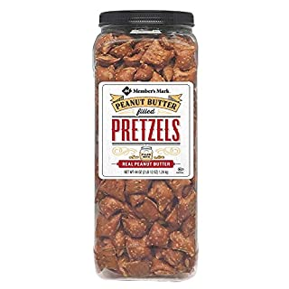 Members Mark Peanut Butter Filled Pretzels - Set of 2 X 44oz Jars - Party/Family Size