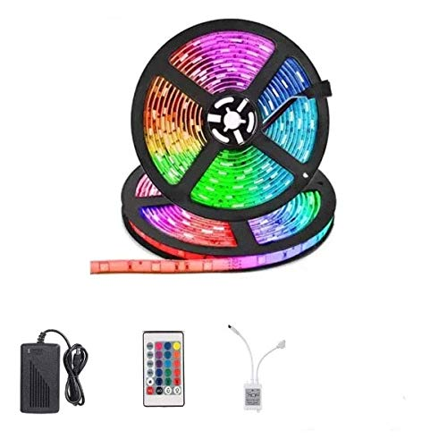 Vidhi Enterprsies Plastic Waterproof RGB Remote Control LED Strip Light for Home, Party, Christmas, Diwali Decoration…