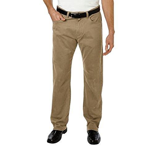 Kirkland Signature Mens Standard fit 5-Pocket Pants, British Khaki, 40 x 34