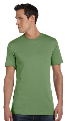 Bella + Canvas Unisex Jersey Short Sleeve Tee (Heather Green) (XL)