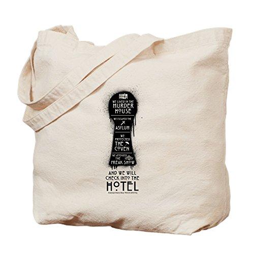 CafePress AHS Hotel Keyhole Natural Canvas Tote Bag, Cloth Shopping Bag