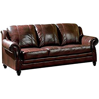 Stunning Burgundy Leather Sofa Theodore Burgundy Power Motion ...