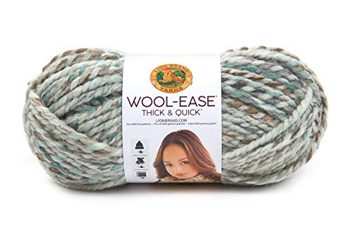 Machine Wash Wool Coat - Lion Brand Yarn Wool-Ease Thick & Quick Hometown Yarn, Quick, Seaglass