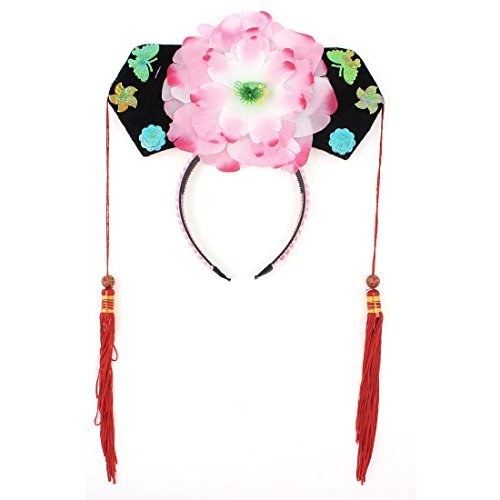 DealMux Girls Floral Decor Oriental Chinese Princess Hairband Hat Headdress