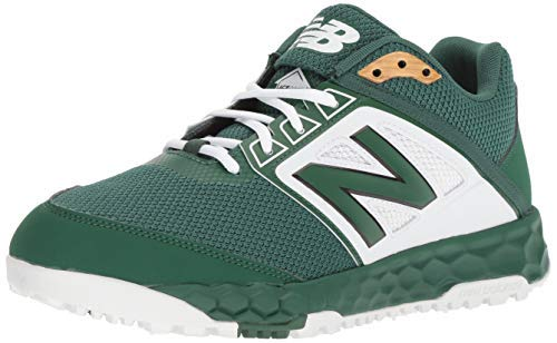 New Balance Men's 3000v4 Turf Baseball Shoe, Green/White, 10 D US (Baseball Green Dark Cleats)