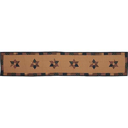 VHC 53814 Parche de cocina patriótico primitivo de algodón, diseño de estrella de patchwork, rectangular, 13 x 72 cm,...