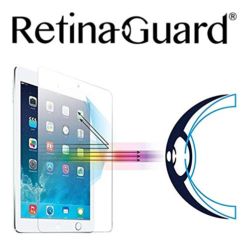RetinaGuard Anti UV, Anti Blue Light Tempered Glass Screen Protector for 2018 iPad, 2017 iPad, iPad Pro 9.7 Inch, iPad Air2, iPad Air, SGS and Intertek Tested  Blocks Excessive Harmful Blue Light