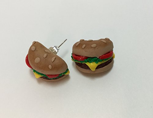 Hamburger Half Stud Earrings