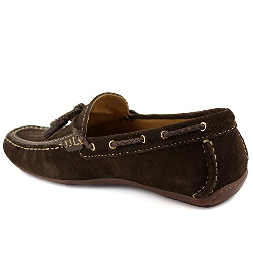 buy cheap best prices cheap best Men's Genuine Leather Made in Brazil Cypress Hill Driver Marc Joseph NY Fashion Shoes Brown Suede good selling EDV4R