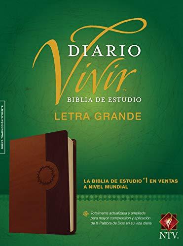 Biblia de estudio del diario vivir NTV, letra grande (Letra Roja, SentiPiel, Café/Café claro) (Spanish Edition)