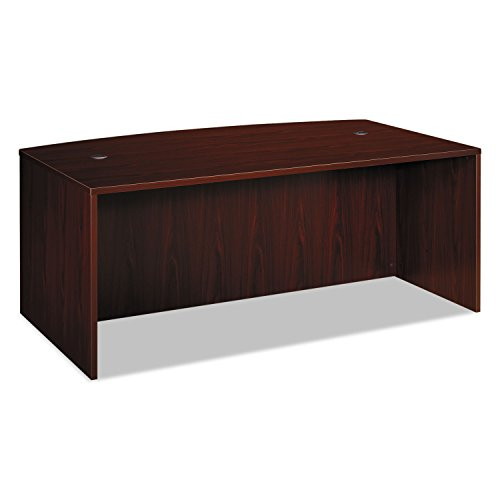 HON BL Laminate Series Office Desk Shell - Bow Front Top Desk Shell, 72w x 42d x 29h, Mahogany (Mahogany Rectangular Conference Table)