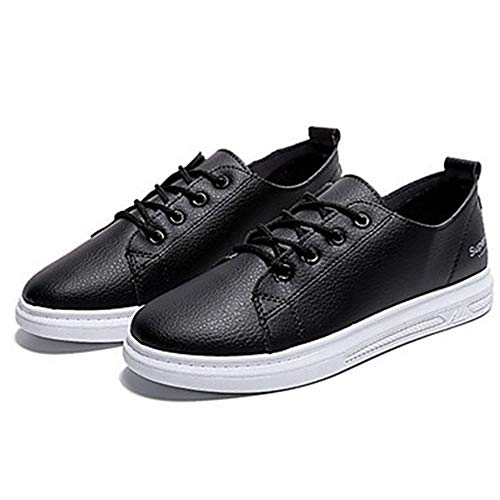 TTSHOES Blu Primavera Per Scarpe US8 Giallo UK6 Blue Sneakers PU Estate Donna EU39 Black Sintetico Comoda Piatto CN39 Black PrAfqPw