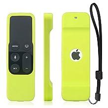 Apple TV Remote Case , Konsait Apple TV Siri Remote Cover Case for Apple Tv 4th Generation Remote Controller with Lanyard (Green)