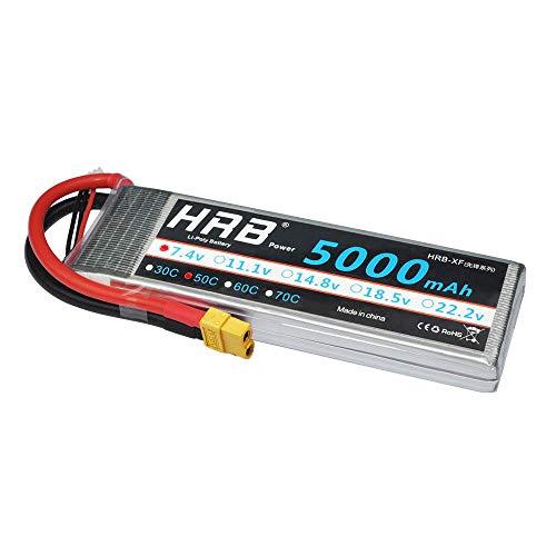 HRB 2S 7.4v 5000mah 50C LiPo Battery XT60 Plug RC Evader BX Car, RC Truck, RC Truggy RC Airplane UAV Drone FPV