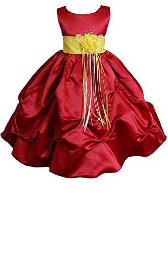 AMJ Dresses Inc Little Girls' Red/yellow Flower Pageant Dress A1403 Sz 6