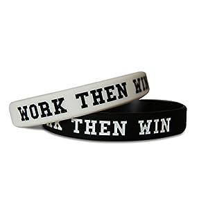 Novel Merk Work Then Win & Team Gym Rat Fitness & Bodybuilding Silicone Rubber Band Wristband Bracelet for Workout, Training, Sports Motivation Accessory 41tPsQsisKL