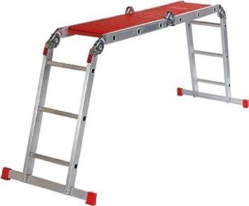 Altrex Varitrex Plus Escalera plegable Aluminio, Rojo - Escalera ...