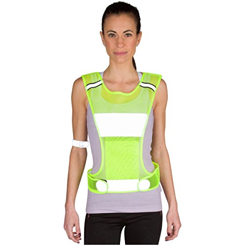 Reflective Vest and Safety Bands for Running, Cycling, or Motorcycle (two sizes for Men and Women, with Pocket for storage, Jogging, Biking, and Walking gear) (Mesh Running Vest)