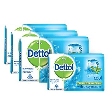 Dettol Soap Cool 75g (Pack of 4)