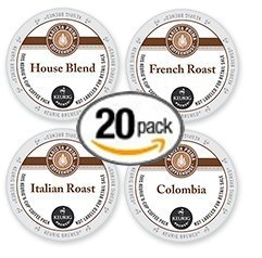 20-count K-cup for Keurig Brewers Coffee Variety Pack Featuring Barista Prima Coffee Cups (Barista Prima Coffee K Cups)