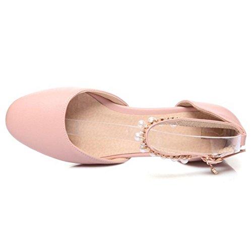 Zapatos Pink Mujer de Tacon Para RAZAMAZA Bajo Rx6PwdPq