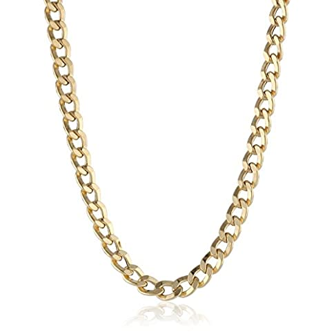 - 41tPu RXh2L - 14K Solid Gold 3.8mm Cuban Curb Link Chain Necklace – Lobster Claw Clasp – Multiple Lengths And Colors Available