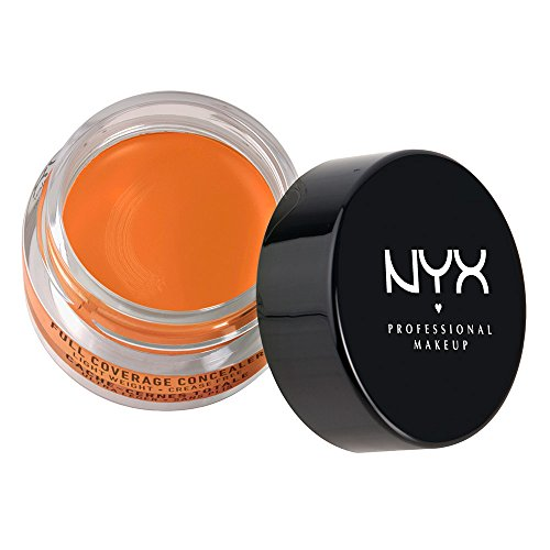 NYX Cosmetics Concealer Jar, Orange, 0.25 Oz.