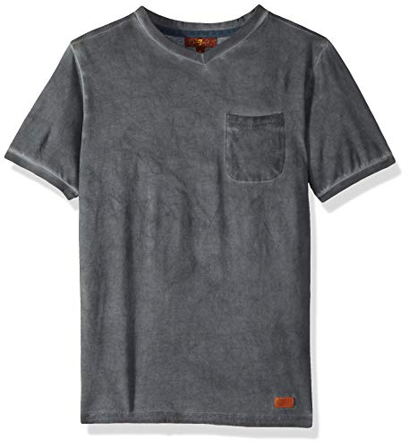 7 For All Mankind Kids Boys' Big Short Sleeve V-Neck Tee, Castle Rock, S 7 For All Mankind Shirts