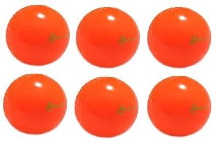 Splay Lite - Pelota de Viento para Adultos, 6 Unidades, Color Naranja