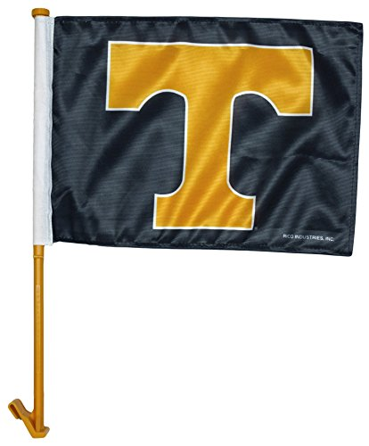 NCAA Tennessee Volunteers Smokey Grey Car Flag with Orange Pole 2 Pack