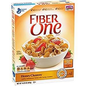 Fiber One Honey Clusters Lightly Sweetened Flakes 14.25 Oz. Pack Of 3. (Fiber One Oats)