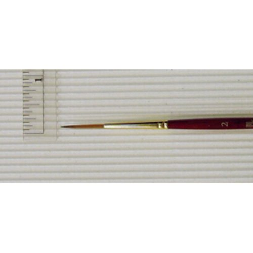 Princeton Heritage, Golden Taklon Brush for Watercolor & Acrylic, Series 4050 Liner Synthetic Sable, Size 2