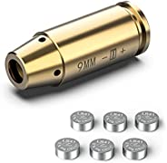 Feyachi Bore Sight 9mm Red Laser Zeroing Boresighter with Three Sets of Batteries