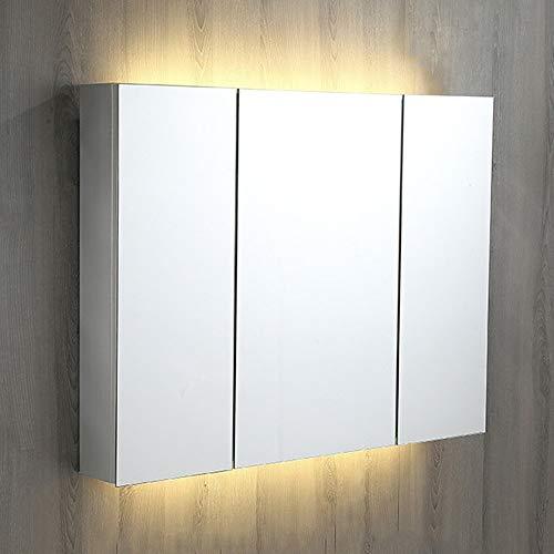 XCJ Bathroom Cabinet Mirror Cabinet Bathroom Cabinet/Bathroom Mirror Cabinet/LED Illuminated Bathroom Mirrors -