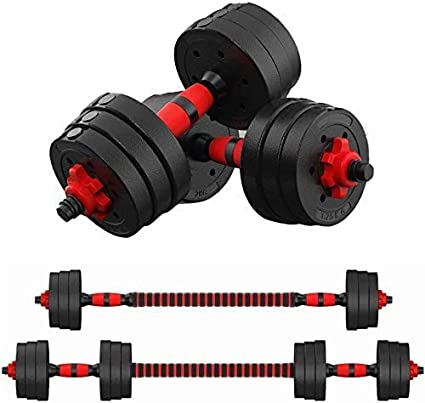 44lb Dumbbell Set Adjustable Dumbbells weights cap 20kg NEW Weight barbell New