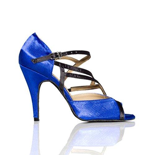 Bcln Donna Open Toe Sandali Tacchi Latino Salsa Tango Pratica Scarpe Da Ballo Con 3,9 Tacco