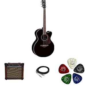 yamaha fjx730sc jumbo solid top acoustic electric guitar rosewood black with. Black Bedroom Furniture Sets. Home Design Ideas