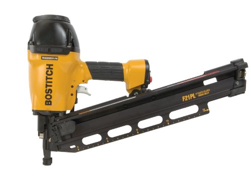 BOSTITCH F21PL Round Head 1-1/2-Inch to 3-1/2-Inch Framing Nailer with Positive Placement...