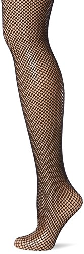 Leg Avenue Women's Plus Size Back Seam Fishnet Pantyhose, Black, One (Halloween Stocking)