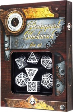 Q WORKSHOP Qworkshop QworkshopSSTC02 Steampunk Clockwork Dice Set (7-Piece) 3