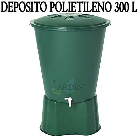 DEPOSITO DE AGUA de POLIPROPILENO 300 LITROS para agua de lluvia. Incluye tapadera + Base. Diámetro 80 cm, Alto 86 cm. Capacidad exacta 310 litros: Amazon.es: Bricolaje y herramientas